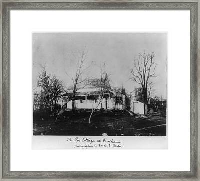 The Poe Cottage At Fordham, The Home Framed Print by Everett