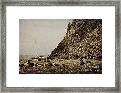 The Point Wilson Light Framed Print by Elena Nosyreva
