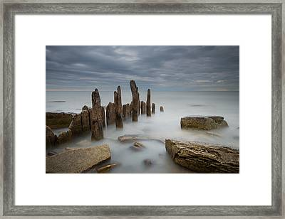 The Points Framed Print by Josh Eral