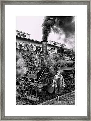 The Polar Express - Steam Locomotive V Framed Print by Lee Dos Santos
