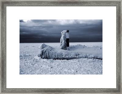 The Polar Vortex Freezes The Great Lakes Framed Print by Dan Sproul