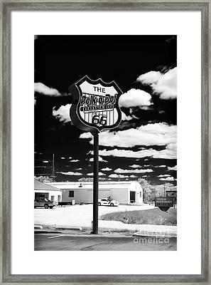 The Polk-a-dot Drive In Framed Print by John Rizzuto