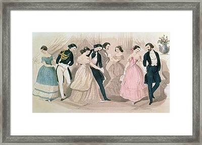 The Polka Fashions Framed Print by English School