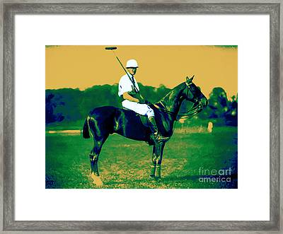The Polo Player - 20130208 Framed Print by Wingsdomain Art and Photography