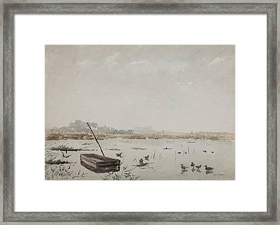 The Pond  Framed Print by Henri Duhem