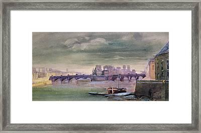The Pont-neuf And The Ile De La Cite Framed Print by Henri Jean-Baptiste Levis