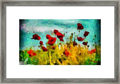 The Poppy Field Tnm Framed Print by Vincent DiNovici
