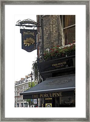 The Porcupine Pub Framed Print by Cheri Randolph