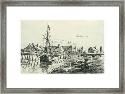 The Port At Touques Framed Print by Claude Monet