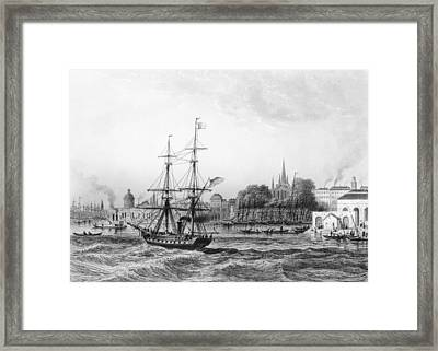 The Port Of New Orleans Framed Print by Charles de Lalaisse