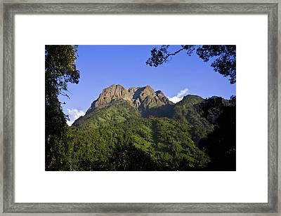The Portal Peaks In The Rwenzori, Uganda Framed Print by Martin Zwick