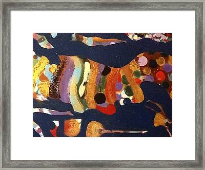 The Portrait Of The Artist As A Middle Aged Man Framed Print by Omar Hafidi