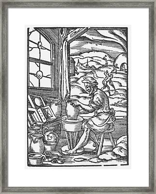 The Potter, 1574 Framed Print by Jost Amman