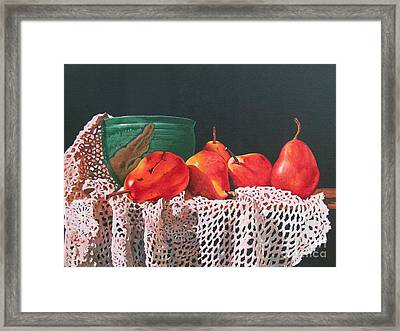 The Potters Bowl Framed Print by Sarah Luginbill