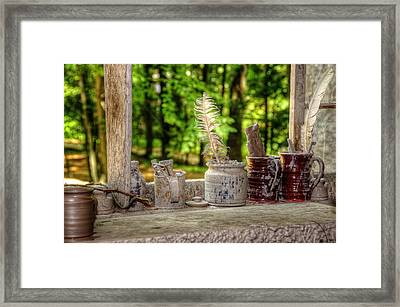 The Potter's Window Framed Print by Donna Doherty