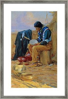 The Pottery Maker Framed Print by Gerald Cassidy