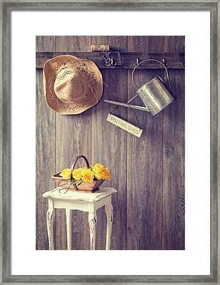 The Potting Shed Framed Print by Amanda And Christopher Elwell