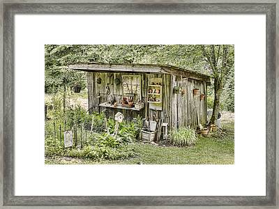 The Potting Shed Framed Print by Heather Applegate