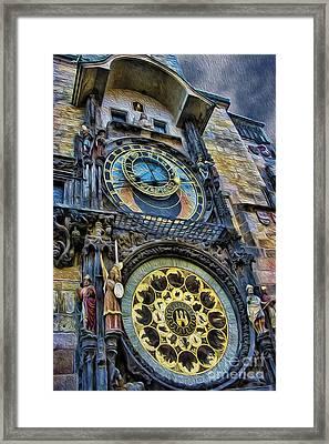 The Prague Astronomical Clock IIi Framed Print by Lee Dos Santos