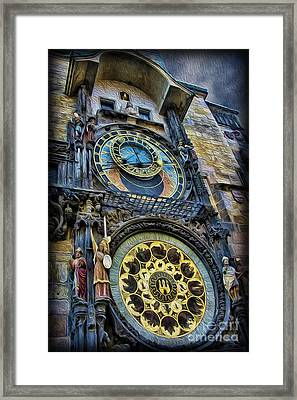 The Prague Astronomical Clock Framed Print by Lee Dos Santos