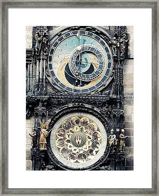 The Prague Orloj Framed Print by Zinvolle Art