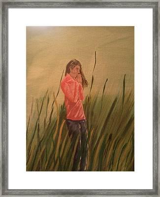 The Prayer Framed Print by Renee McKnight