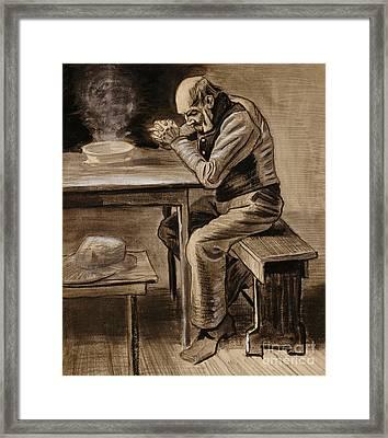 The Prayer Framed Print by Vincent Van Gogh