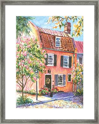 The Precious Pink House Framed Print by Alice Grimsley