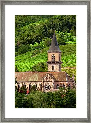 The Presbytere Catholique Church Stands Framed Print by Brian Jannsen