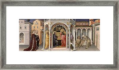 The Presentation In The Temple Framed Print by Gentile da Fabriano