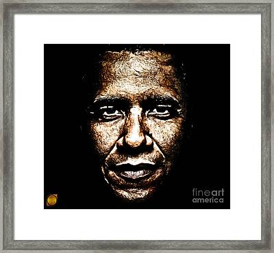 The President Framed Print by The DigArtisT