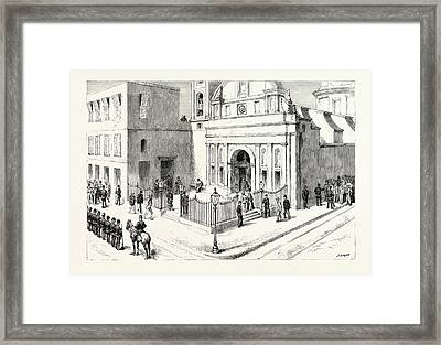 The Presidential Election In Argentina The Polling Station Framed Print by Argentine School