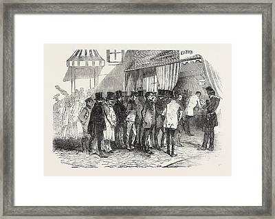 The Presidential Election In Paris Taking The Votes Framed Print by French School