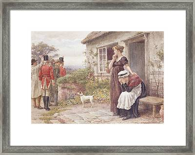 The Press Gang Framed Print by George Goodwin Kilburne