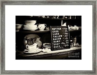 The Price List Framed Print by Paul W Faust -  Impressions of Light