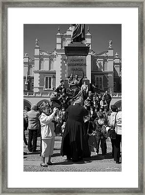 The Priest As Photographer Framed Print by Robert Lacy
