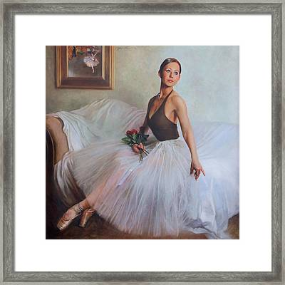The Prima Ballerina Framed Print by Anna Rose Bain