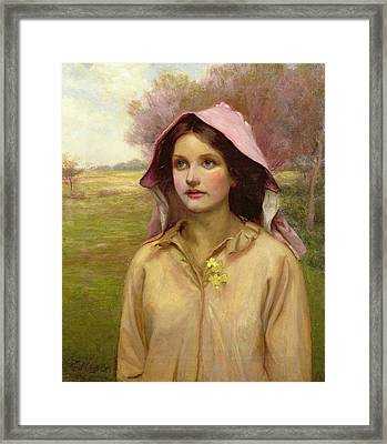 The Primrose Girl Framed Print by William Ward Laing
