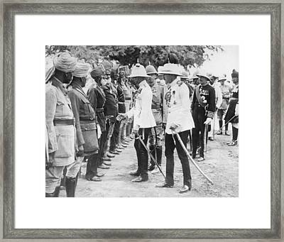 The Prince Of Wales In India Framed Print by Underwood Archives