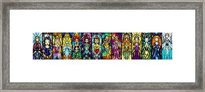 The Princesses Framed Print by Mandie Manzano