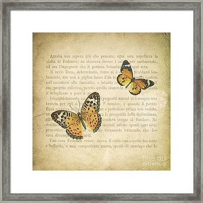 The Printed Page 8 Framed Print by Jan Bickerton