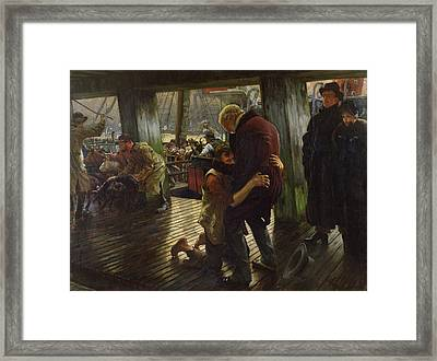 The Prodigal Son In Modern Life Framed Print by James Jacques Joseph Tissot
