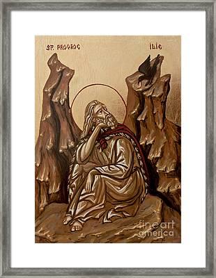 The Prophet Elijah Framed Print by Olimpia - Hinamatsuri Barbu