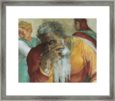The Prophet Jeremiah Framed Print by Michelangelo