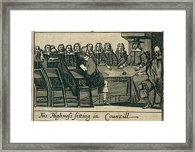 The Protectoral Council Framed Print by British Library
