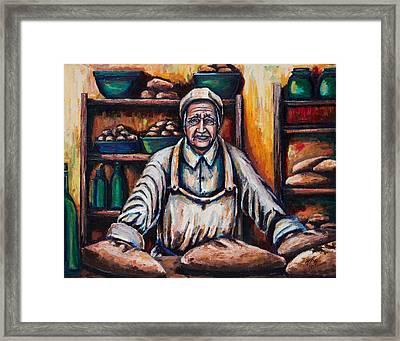 The Proud Baker Framed Print by Kevin Richard