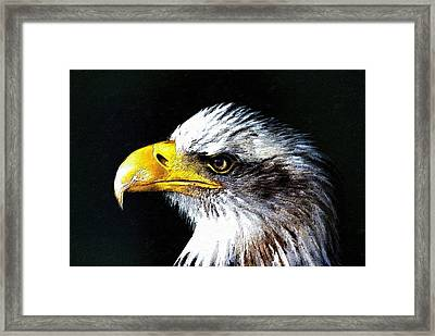 The Proud Eagle Framed Print by Florian Rodarte