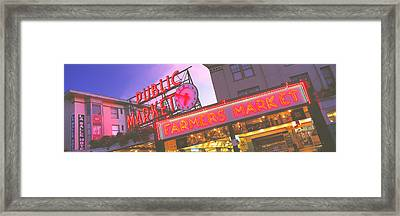 The Public Market Seattle Wa Usa Framed Print by Panoramic Images
