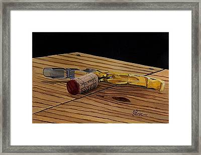 The Pull Framed Print by Brien Cole