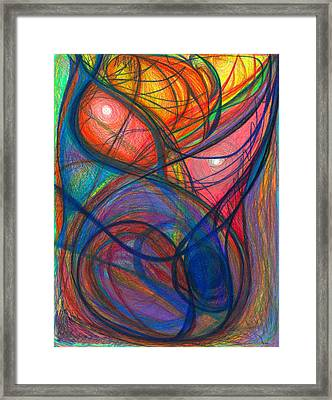 The Pulse Of The Heart Lies Strong Framed Print by Daina White